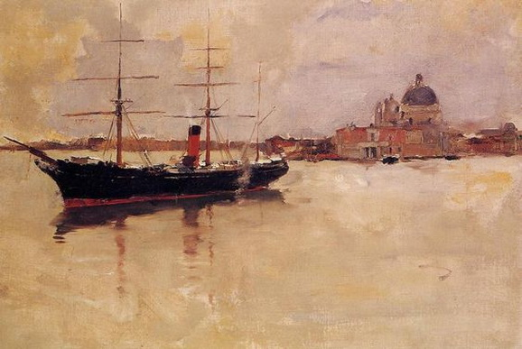 Frank Duveneck - Venice Ship in Grand Canal