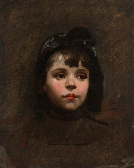 Frank Duveneck -  Portrait of a Little Girl