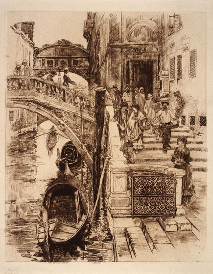 Frank Duveneck - Venice Bridge of Sighs