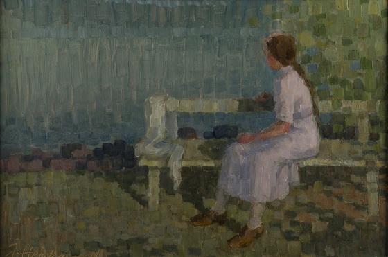 Jonas Heiska - Girl on bench