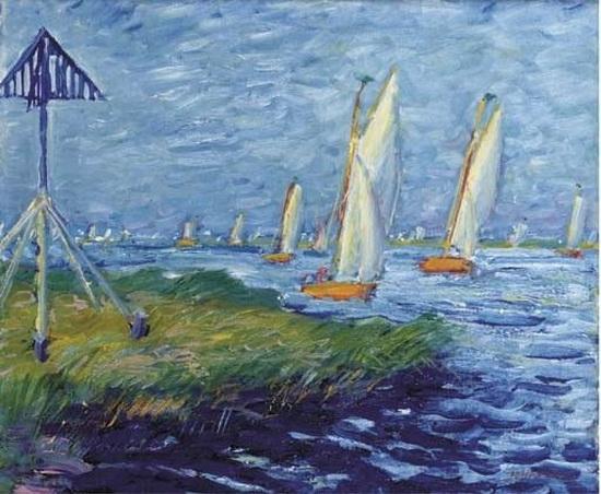 Johan Dijkstra - Boats on a lake