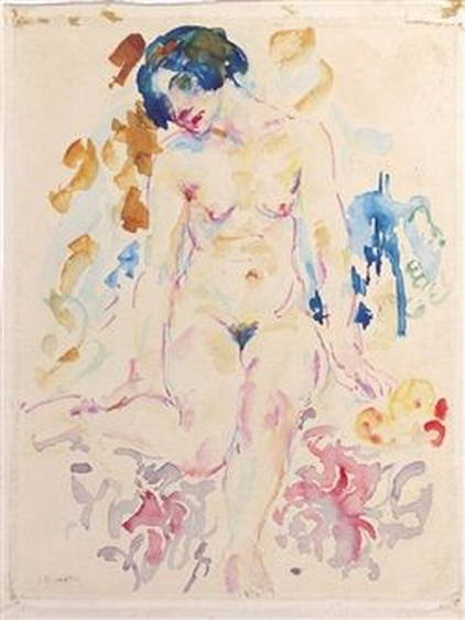 Johan Dijkstra - A seated nude