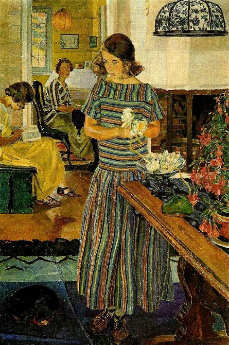 Carl Wilhelm Wilhelmson - Girl with Flowers