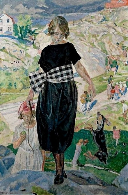 Carl Wilhelm Wilhelmson - The Jumping Dog