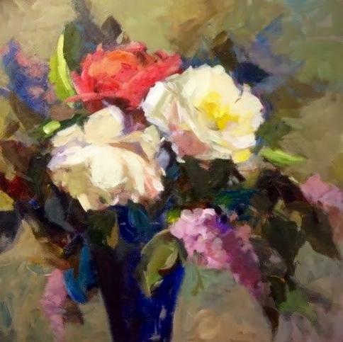 Parastoo Ganjei roses and lilacs