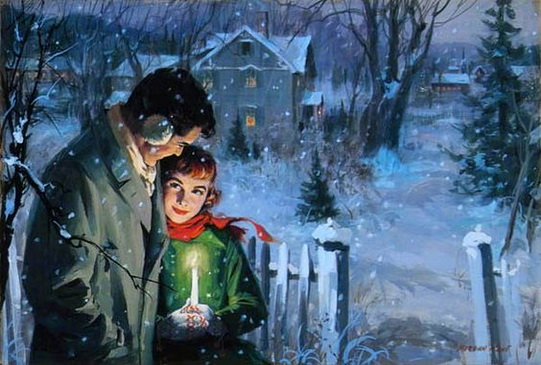 Morgan Kane -  Couple In Falling Snow