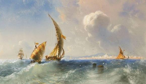 Carlo Bossoli -  Alto mare