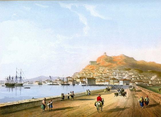 Carlo Bossoli - Crimea Керчь со стороны морской дороги