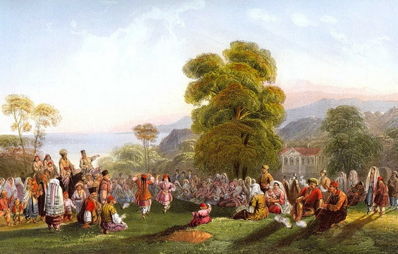 Carlo Bossoli - Crimea Татарский танец