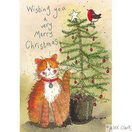 Alex Clark - Cat and Christmas Tree