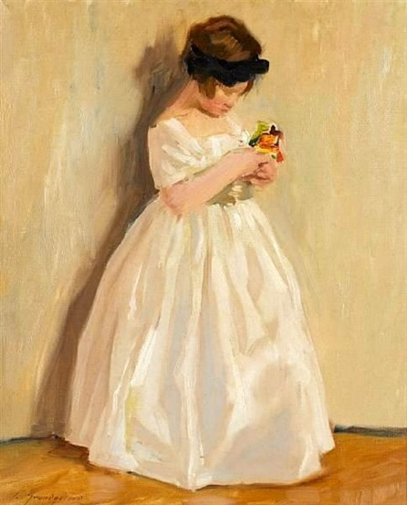 Lucien Henri Grandgerard - The Little Bridesmaid