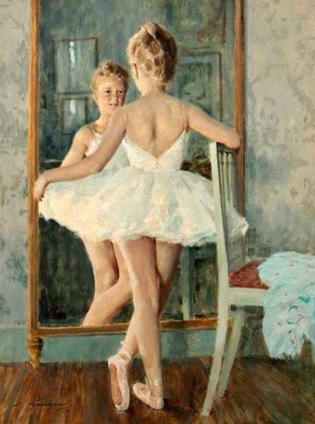 Lucien Henri Grandgerard - Petite danseuse au miroir