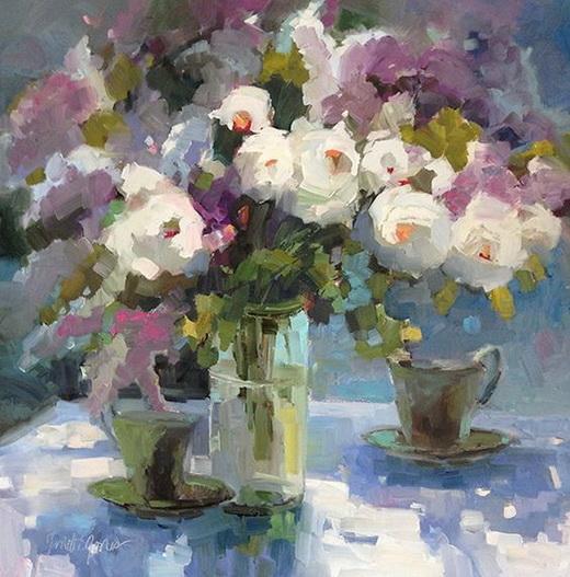 Janette Jones - White Roses with Tea