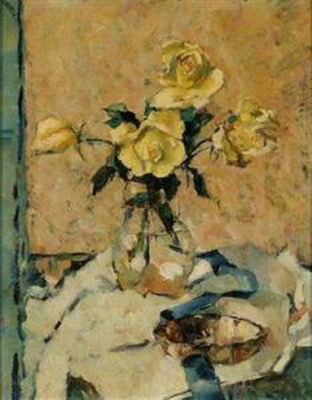 Anton Lutz - Still Life With Yellow Roses