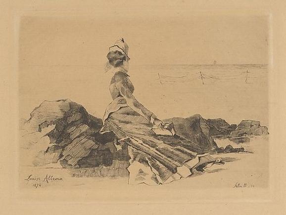 Louise Abbema Woman sitting