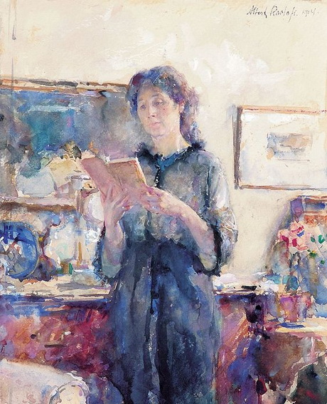 Albert Roelofs - Reading Woman
