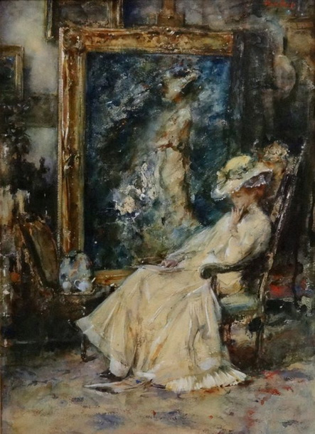 Albert Roelofs - Elegante en el estudio