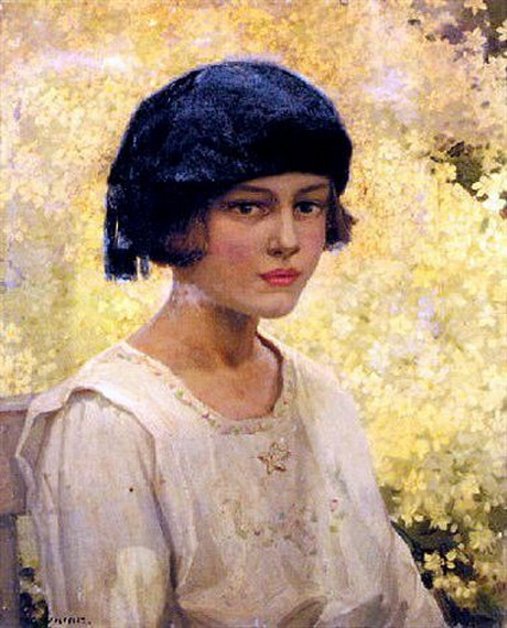 Garnet Ruskin Wolseley - Young Girl in a Black Beret