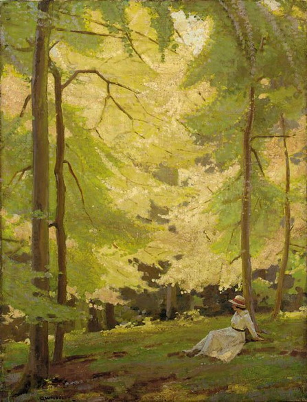 Garnet Ruskin Wolseley - Girl Resting in the Shade