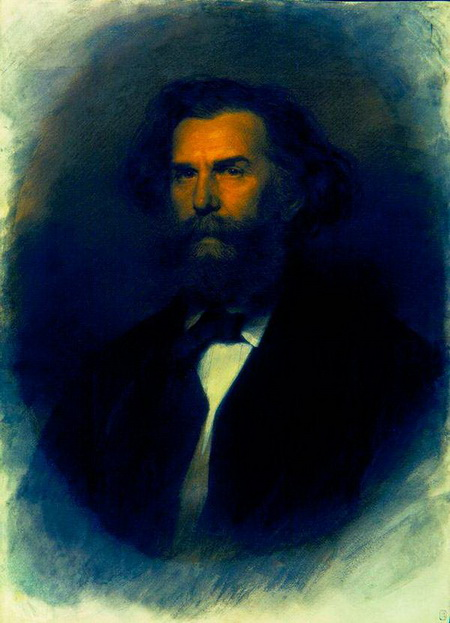Kramskoy - Портрет художника Алексея Боголюбова.