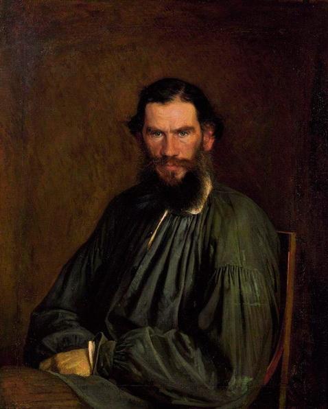 Kramskoy - Портрет писателя Льва Николаевича Толстого.