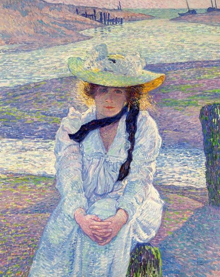 Theo van Rysselberghe - Young Woman on the Sand Shore