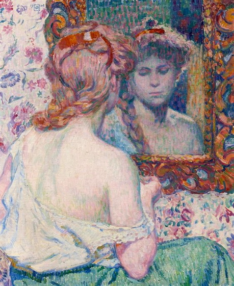 Theo van Rysselberghe - Woman at a Mirror