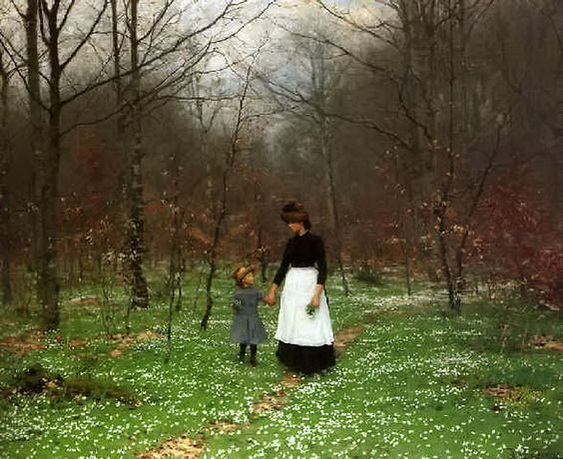 Hans Andersen Brendekilde -  The First Anemones