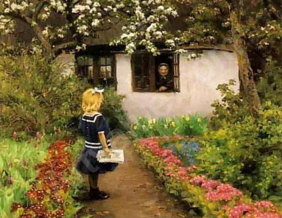 Hans Andersen Brendekilde - Delivering The Letter