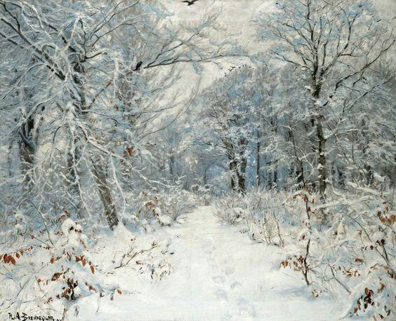 Hans Andersen Brendekilde - Winter Landscape