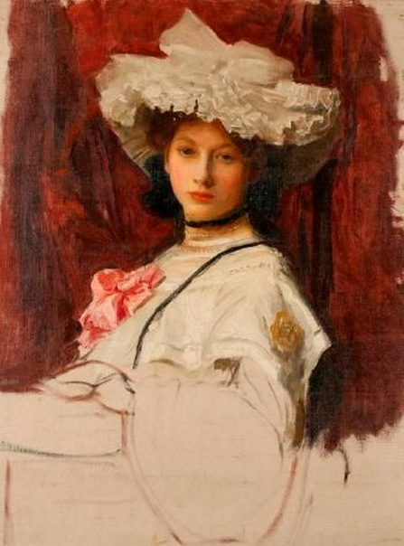 George Spencer Watson  -  Lady in White