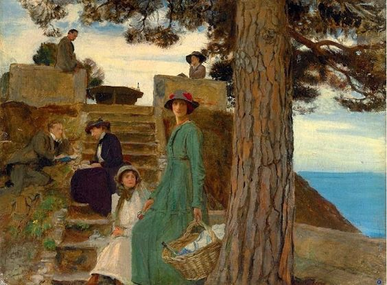 George Spencer Watson  -  A Weekend at Portofino