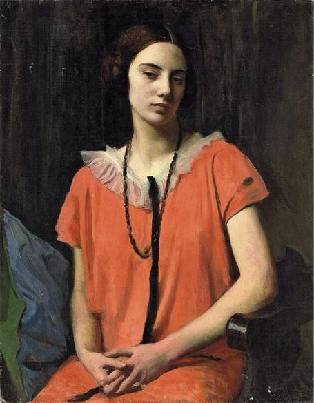 George Spencer Watson  -  The Orange Dress