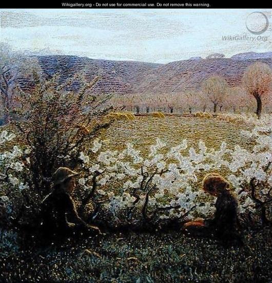 Giuseppe Pellizza da Volpedo - Field in Bloom