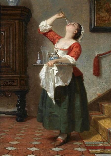 Wilhelm Amberg - The Maid