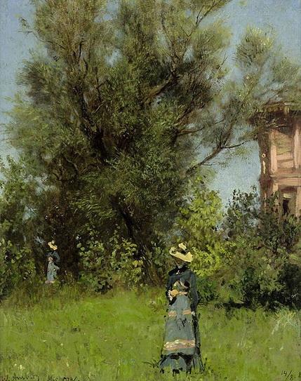 Wilhelm Amberg - Woman in the Garden