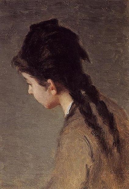 Eva Gonzales -  portrait of Jeanne Gonzales