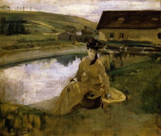 Eva Gonzales -  On the Water, 1871