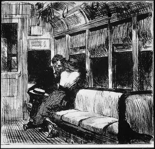 Edward Hopper  Night On The El Train