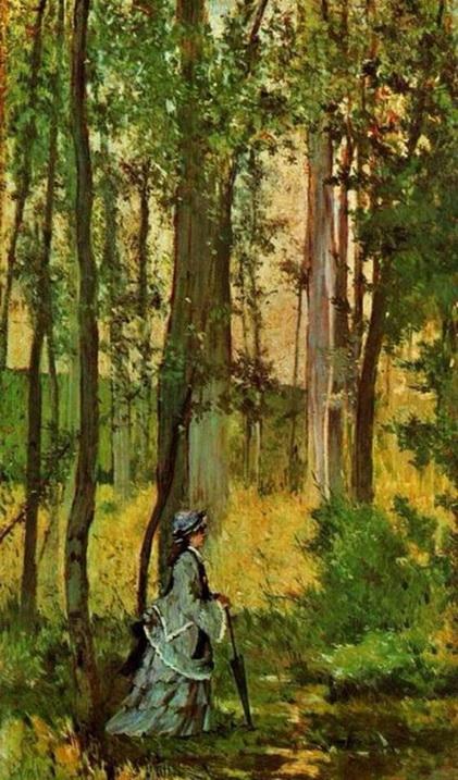 Giovanni Fattori - Woman in Forest