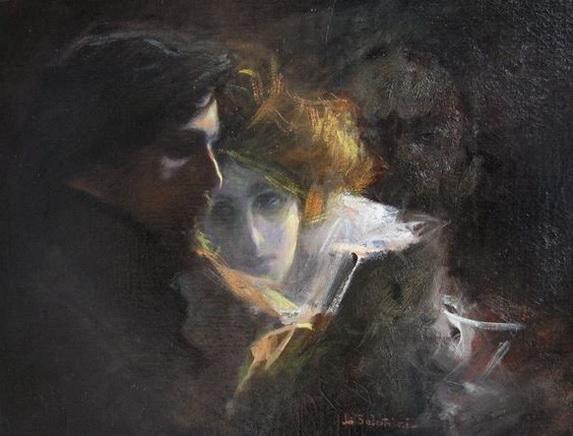 Lionello Balestrieri - istening to Beethoven