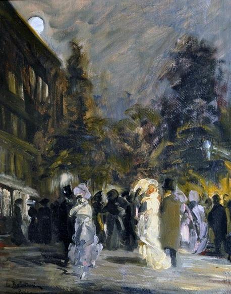 Lionello Balestrieri - Notte a Parigi