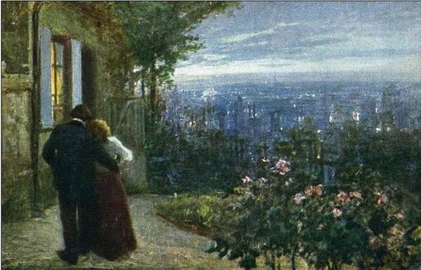 Lionello Balestrieri - Two lovers in the garden