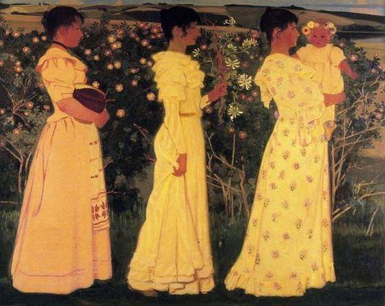 Harald Slott Moller - Three Women. Summer