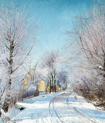 Laurits Andersen Ring - Rime. A rutted road