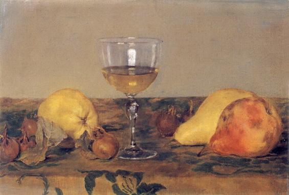 Louis Eysen - Stilleben mit Weinglas