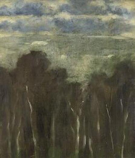 Louis Eysen -  Baume Am Waldesrand.