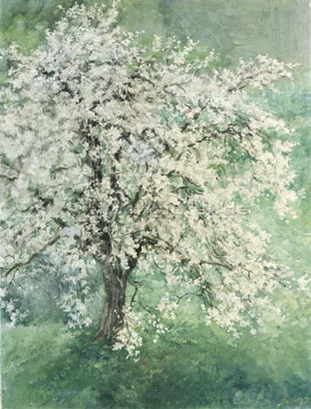 Louis Eysen - Bluhender Apfelbaum