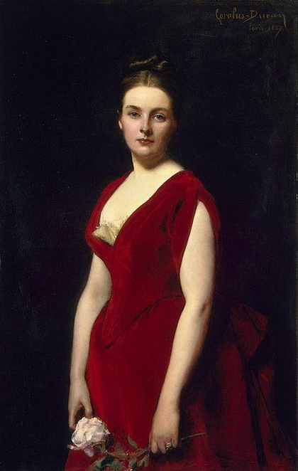 Charles Emile Auguste Durant - Portrait of Anna Obolenskaya