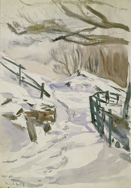 Beatrix Potter - Path in snow